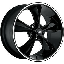 **CUST** Foose Legend F104 (2)17x8 2 (2)18x8 (5x4.75) +1mm Black Wheels Rims