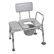 Transfer Bench Toilet Seats Padded Commode Bathroom Shower Bath Tub Handicap