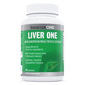 Liver One by Balance ONE - Milk Thistle, Dandelion, Artichoke - 30 Day Supply