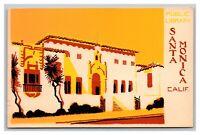 Santa Monica, CA, California, Public Library Hand Made, Postcard Unposted