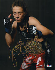 JOANNA JEDRZEJCZYK SIGNED AUTO'D 11X14 PHOTO PSA/DNA COA Z78377 MMA UFC CHAMPION