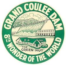 Grand Coulee Dam  Washington Vintage  1950's-Style  Travel Decal  Sticker  Label