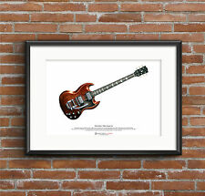 Mick Taylor's Gibson SG ART POSTER A3 size