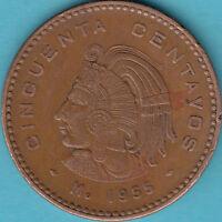 Mexico 1955 M - Cuauhtémoc - 50 Centavos Münze