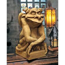 "Medieval Gothic ""Who Cares What you think"" Gargoyle Statue Garden Decor NEW"