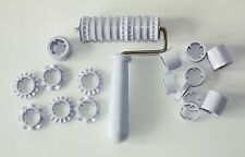 Fondant Ribbon Roller Cutter Strip Embosser Roller Set Sugarcraft Cake Decoratin