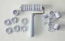 Fondant Ribbon Roller Cutter Strip Embosser Roller Set Sugarcraft Cake Decoratin
