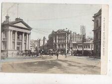 Custom House Square Dunedin New Zealand Vintage Postcard 915a
