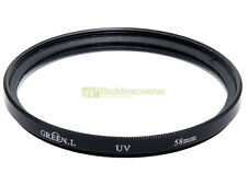 58mm. Filtro MC UV  Green L. Ultra violet filter.