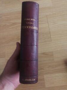 Rare Emile Zola - Fecondite 1899, Edition originale
