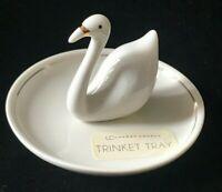 Lauren Conrad White Porcelain Swan Trinket Tray Vanity Dish - New