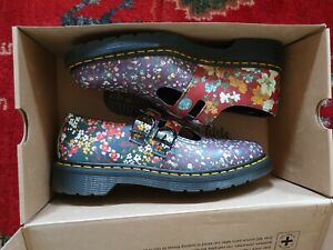 Dr Martens Floral Mix Backhand Mary Jane double-strap Size 7 UK Womens