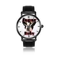 Boston Terrier Trendy Watch ~ Genuine Leather