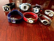 Lot of 7  Women's Watches and 1 child. New Batteries and works great, .