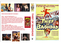 THIEF OF BAGHDAD (BLUE ROSE) STEVE REEVES+HERCULES W/S DVD-R ~ 2 DISCS CASE ART!
