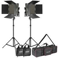 Neewer Photo 2-Pack Dimmable Bi-color 660 LED Video Light and Stand Lighting Kit