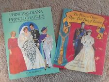 Vintage Princess Diana and Prince Charles Fashion Paper Doll Set Books