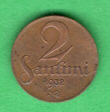 LATVIA LETTLAND 2 SANTIMI 1932 COIN 14