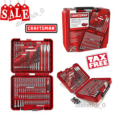 Craftsman 100-pc Accessory Set Drill Bit Driver Screw Tools Kit Case NO TAX