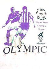 Vintage Olympic Soccer shirt 1996 Olympics Athens Georgia Distressed Tee