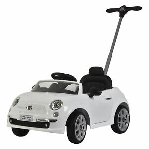 Best Ride On Cars 2-in-1 Fiat 500 Model Baby Push Car Stroller, White (Used)