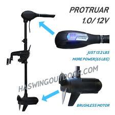 65lbs HASWING - PROTRUAR 1.0 BRUSHLESS 65LBS 12V TROLLING MOTOR salt/fresh 50711