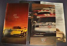 1999 Chevrolet Corvette Racing Prestige Brochure + Cover Letter Excellent Orig