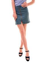 Free People Women's NBW This Way Or That Mini Skirt Blue Size 4 RRP 50 BCF77