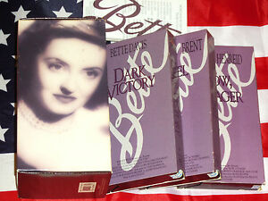 Bette Davis (VHS, BOX SET) Dark Victory, Jezebel, Now Voyager Video Tape MGM Lot