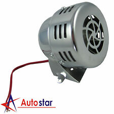 New 12V Chrome Civil Air Raid Siren Horn Tornado Alarm Motor Driven Police Fire