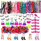 Barbie Set Doll Accessories Shoes Boots Dress Handmade Handbags Trolley NO DOLL