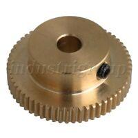 Brass Worm Wheel Gear 60T 0.5 Modulus 12x31x6mm for Power Transmission