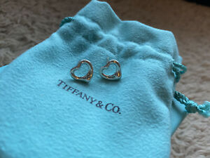 Tiffany Elsa Peretti Open Heart Earrings