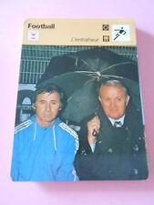 Football  l'entraineur  Fiche Card 1978