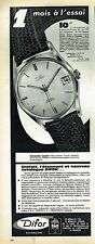 G- Publicité Advertising 1962 La Montre Difor