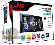"JVC KW-M730BT 6.8"" Monitor Apple CarPlay Android Auto Receiver USB Bluetooth"