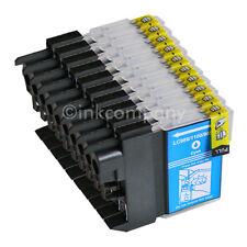10 CYAN BLAU für Brother DCP195C MFC5890CN 490CW DCP145C DCP165C LC980 LC1100 XL