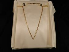 Stunning MICHAEL ANTHONY 14K Yellow Gold V Shaped Necklace Unusual Links 7.7 gr