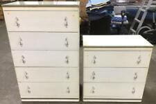 (2)pc Vintage Chests Of Drawers W/ Glass Tops Lot 2586