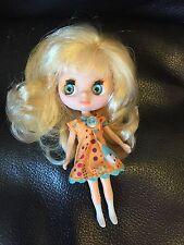 Littlest Pet Shop Blythe Blonde Hair Doll With Original Clothes GUC
