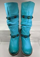 L'Artiste Spring Step Promenade Turquoise Boots EU 36