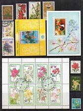 fleurs thématique Collection de timbres excellent état d'Occasion Ref: ts153