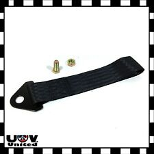 JDM High Strength Sports Racing Tow Strap Set Front Rear Bumper Towing Hook BLK
