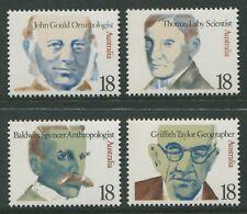 FAMOUS AUSTRALIANS 1976 - MNH SET OF FOUR (R09-RR)