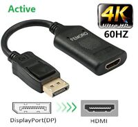 Active Display Port DP to HDMI Adapter cable 4k60hz Male to Female Connector