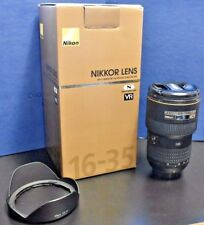 Nikon NIKKOR 16-35mm f/4 AS G SWM AF-S VR IF N M/A ED Lens w/ Box & Lens Hood