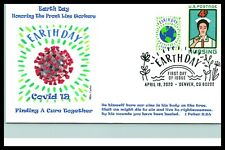 2020 Earth Day- Pandemic Virus 19 theme-Nurses Front Line Responders-Wile Cachet