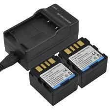 Charger +2x 700mAh Battery for JVC BN-VF707 BN-VF707U GR-D GR-DF GZ-MG Series DV