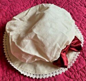 "Mop Cap for Colonial Era 18"" American Girl Doll Clothes Elizabeth Felicity"