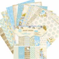 "12stk 6"" Vintage Blau Blume Paper Hintergrund DIY Scrapbooking Origami Making"